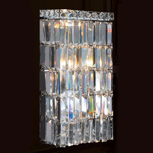 Cascade Four-Light Chrome Finish with Clear-Crystals Wall Sconce