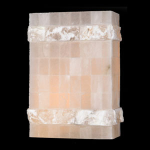 Pompeii Flemish Brass Finish Natural Quartz Wall Sconce