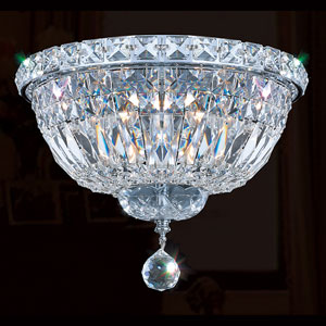 Empire Four-Light Chrome Finish with Clear-Crystals Ceiling-Light