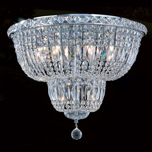 Empire 10-Light Chrome Finish with Clear-Crystals Ceiling-Light