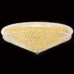 Empire 33-Light Gold Finish with Clear-Crystals Ceiling-Light