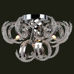 Medusa Nine-Light Chrome Finish with Clear-Crystals Ceiling-Light