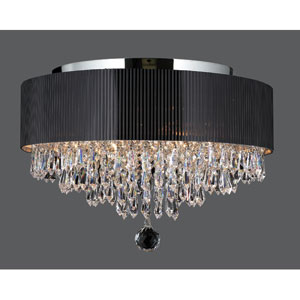 Gatsby Four-Light Chrome Finish with Clear-Crystals Ceiling-Light