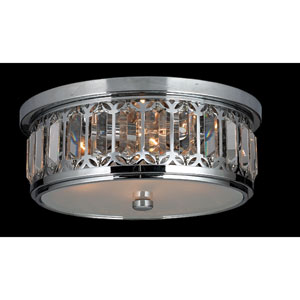 Parlour Four-Light Chrome Finish with Clear-Crystals Ceiling-Light