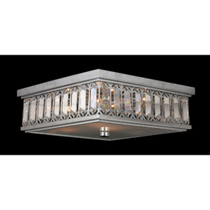 Athens Six-Light Chrome Finish with Clear-Crystals Ceiling-Light