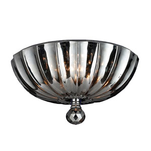 Mansfield Polished Chrome Three-Light Flush Mount