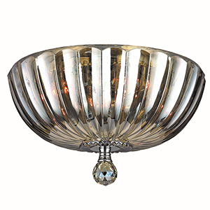 Mansfield Polished Chrome Four-Light Flush Mount