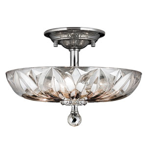 Mansfield Polished Chrome Four-Light Semi-Flush