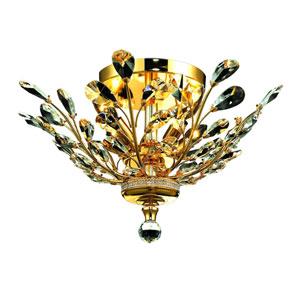 Aspen Polished Gold Four-Light Semi-Flush Mount