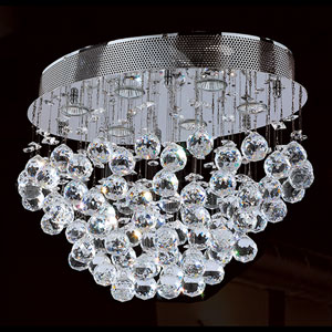Icicle Six-Light Chrome Finish with Clear-Crystals Ceiling-Light