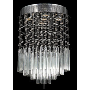 Torrent Five-Light Chrome Finish with Clear-Crystals Ceiling-Light