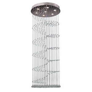 Helix Polished Chrome Seven-Light Flush Mount