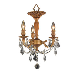 Windsor French Gold Three-Light Semi-Flush
