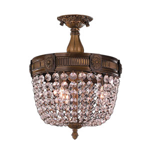 Winchester Antique Bronze Three-Light Semi-Flush