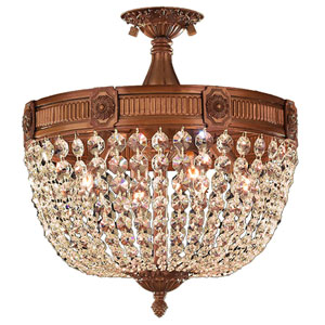 Winchester French Gold Four-Light Semi-Flush Mount