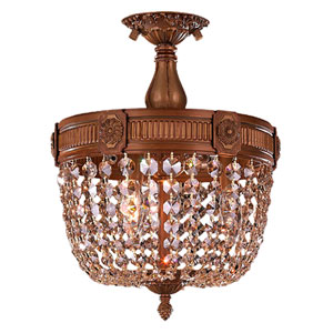 Winchester French Gold Three-Light Semi-Flush