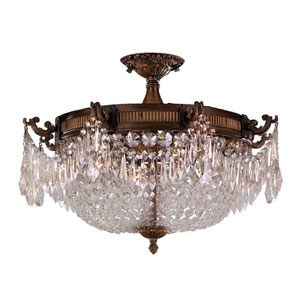 Winchester Antique Bronze Four-Light Semi-Flush Mount
