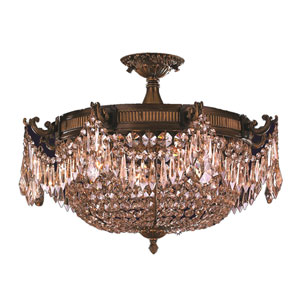 Winchester Antique Bronze Four-Light Semi-Flush