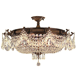 Winchester Antique Bronze 10-Light Semi-Flush
