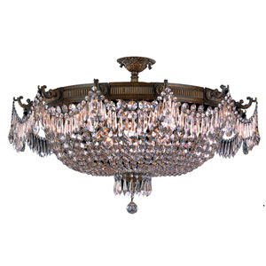Winchester Antique Bronze Twelve-Light Semi-Flush