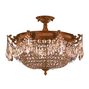 Winchester French Gold Four-Light Semi-Flush