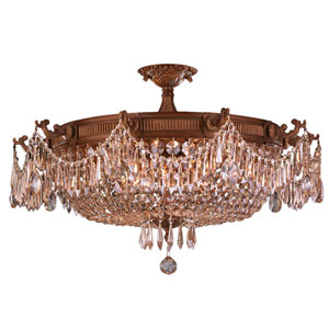 Winchester French Gold Ten-Light Semi-Flush