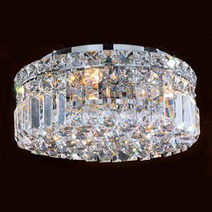 Cascade 4 Ligh Chrome Finish with Clear-Crystals Ceiling-Light