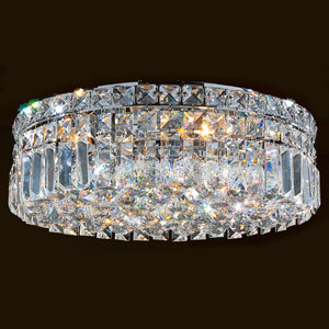 Cascade Five-Light Chrome Finish with Clear-Crystals Ceiling-Light