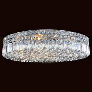 Cascade Nine-Light Chrome Finish with Clear-Crystals Ceiling-Light
