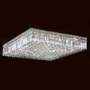 Cascade 13-Light Chrome Finish with Clear-Crystals Ceiling-Light