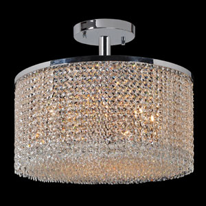 Prism Nine-Light Chrome Finish with Clear-Crystals Ceiling-Light