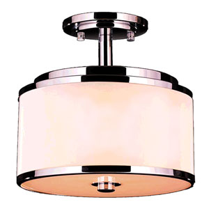 Madeline Polished Chrome Five-Light LED Semi-Flush