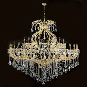 Maria Theresa 48-Light Gold Finish with Clear-Crystals Chandelier