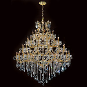 Maria Theresa 49-Light Gold Finish with Clear-Crystals Chandelier