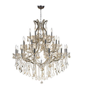 Maria Theresa Polished Chrome 28-Light Chandelier