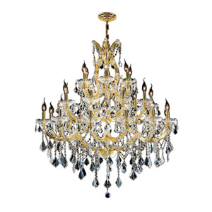 Maria Theresa Polished Gold Twenty-Eight Light Chandelier