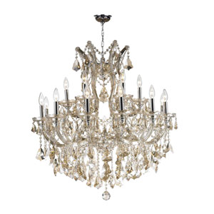 Maria Theresa Polished Chrome 19-Light Chandelier