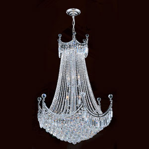 Empire 15-Light Chrome Finish with Clear-Crystals Chandelier