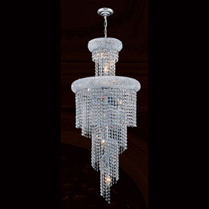 Empire 10-Light Chrome Finish with Clear-Crystals Chandelier