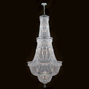 Empire 34-Light Chrome Finish with Clear-Crystals Chandelier
