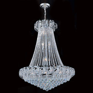 Empire 18-Light Chrome Finish with Clear-Crystals Chandelier