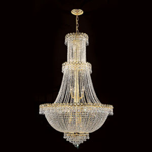 Empire 17-Light Gold Finish with Clear-Crystals Chandelier