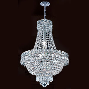 Empire Eight-Light Chrome Finish with Clear-Crystals Chandelier