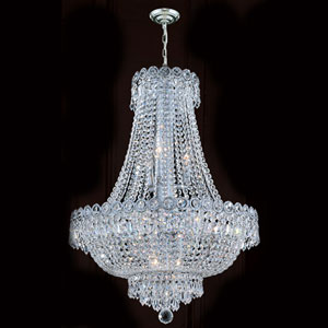 Empire 12-Light Chrome Finish with Clear-Crystals Chandelier