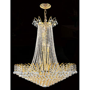 Empire 16-Light Gold Finish with Clear-Crystals Chandelier