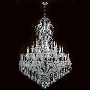 Maria Theresa 48-Light Chrome Finish with Clear-Crystals Chandelier