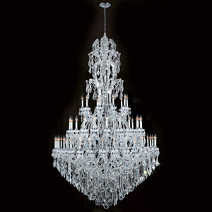 Maria Theresa 60-Light Chrome Finish with Clear-Crystals Chandelier