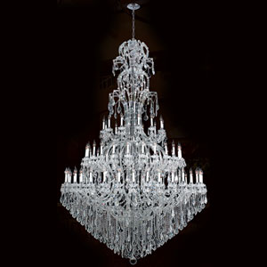 Maria Theresa Polished Chrome Seventy-Two Light Chandelier