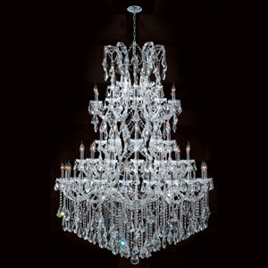 Maria Theresa 61-Light Chrome Finish with Clear-Crystals Chandelier