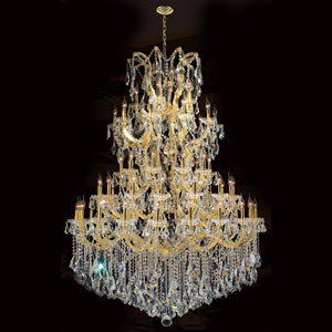 Maria Theresa 61-Light Gold Finish with Clear-Crystals Chandelier